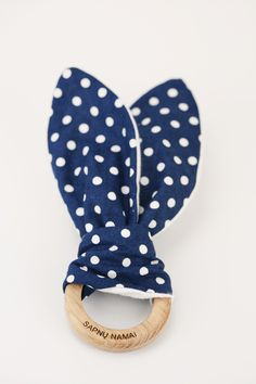 adorable polka-dot baby teether www.morka.biz//