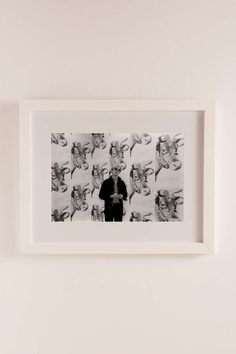 "Andy Warhol & ""Cows"" By Fred W. McDarrah/Getty Images Art Print"