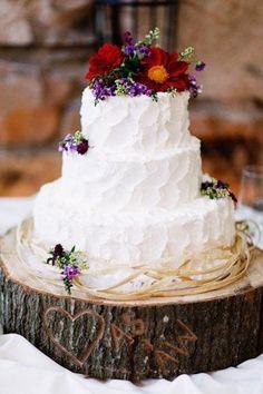 Country wedding cake...cute idea