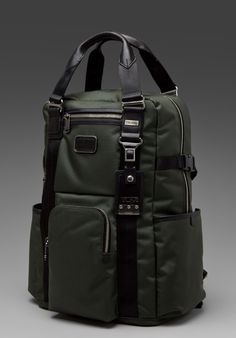 Tumi Alpha Bravo Lejeune Backpack Tote olive green