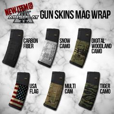 New Item at AirSplat! - GunSkins Protective Magazine Wraps Which camo is your favorite? http://www.airsplat.com/categories/AC-GUNSKIN-MAG.htm
