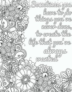 Adult Coloring Book Printable Pages By JoenayInspirations Quote Cool
