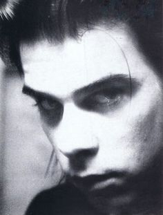 [B/w closeup of Nick Cave] fishcakesfishcakes: chronicfabulist: I still don't understand how his face works Nick Cave, Red Right Hand, Poster Boys, The Bad Seed, Aesthetic People, Stunning Eyes, Post Punk, New Wave, Music Artists