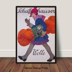 Girl Yarn Skein of Yarn Girly Fashion Vintage