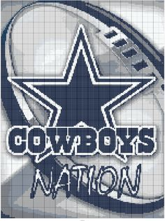 Stitch Fiddle is an online crochet, knitting and cross stitch pattern maker. Pearler Bead Patterns, Bead Loom Patterns, Beading Patterns, Crotchet Blanket, Crochet Blanket Patterns, Afghan Patterns, Dallas Cowboys Blanket, Football Blanket, Plastic Canvas Ornaments