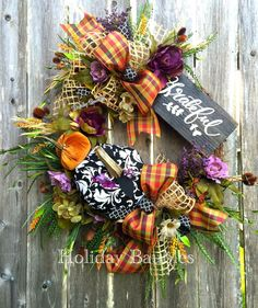 Grateful Fall Grapevine by Holiday Baubles