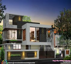 203 Awesome House Elevation Indian Modern Images Modern Houses