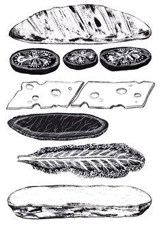 Nine Main Bakery & Deli - Alice Pattullo Illustration