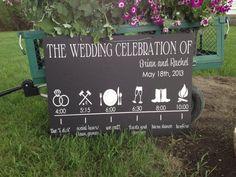 Wedding Reception Timeline Sign by IDoSignDesigns on Etsy, $55.00