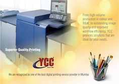 yccindia - Digital Printing Solutions In Thane Digital Printing Services, Online Marketing Companies, Online Business, Digital Prints, Web Design, Mumbai, India, Shop, Fingerprints