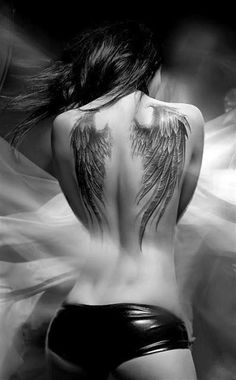My fashion style: Beautiful Angel Wing Tattoos For Women