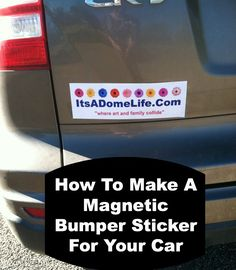DIY Car Magnet Thinking Im Crafty Pinterest Diy Car Car - Auto decals and magnets