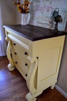 Picked & Painted: Empire Dresser in White Raisin by SW Refurbished Furniture, Repurposed Furniture, Shabby Chic Furniture, Vintage Furniture, Reclaimed Furniture, Industrial Furniture, Vintage Industrial, Industrial Style, Wood Furniture
