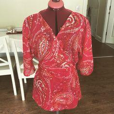 Pink chiffon kimono top
