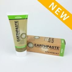 Earthpaste - Spearmint - All Natural Organic Fluoride Free Toothpate by Earthpaste, http://www.amazon.com/dp/B00GM3XWP4/ref=cm_sw_r_pi_dp_spwGsb1FBACAX