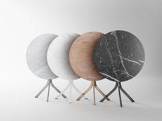 Téléchargez le catalogue et demandez les prix de Bistro | table en marbre By retegui, table pliante ronde design Jean Louis Iratzoki