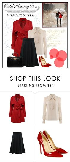 """Get the Look: Winter Edition"" by vidrica ❤ liked on Polyvore featuring Christian Louboutin, Mulberry, women's clothing, women's fashion, women, female, woman, misses, juniors and GetTheLook"