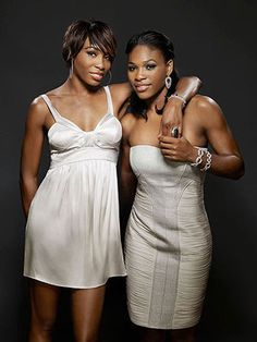 Venus and Serena Williams. #tennis #fitness #physique.  Two of the badest chicks in tennis!