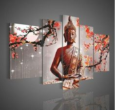Wall Art Religion Buddha Oil Painting On Canvas Modern Fashion(no frame)   eBay