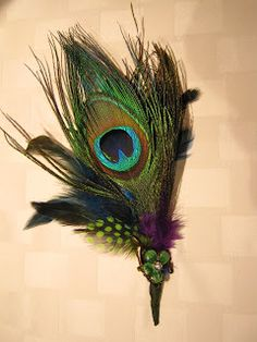 for the groom... with Peacock Feathers