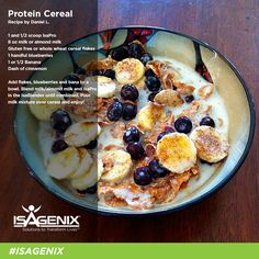 Here's a new way to enjoy your IsaPro! Get a quick, healthy dose of protein this morning with this protein cereal from Daniel L.!