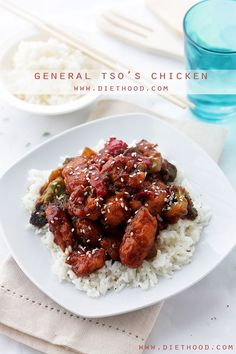 General Tso Chicken | www.diethood.com | Spicy, sweet, tender, insanely delicious General Tso Chicken! | #recipe #chicken