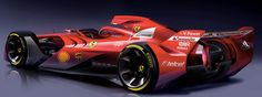 Así tendría que ser un Fórmula 1 según Ferrari. Que belleza! Ojala asi fueran los F1 de verdad!