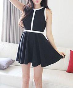 Slim High Waist Sleeveless Cotton Dress