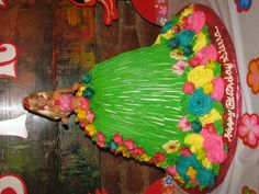 Barbie Birthday Cake for my daughter's 6th bday. Hulu Theme Party.