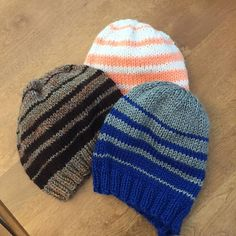 Easy Knit Hat, Loom Knit Hat, Knit Hat For Men, Knitted Hats Kids, Loom Knitting, Knit Hats, Beanie Knitting Patterns Free, Knit Beanie Pattern, Knit Patterns