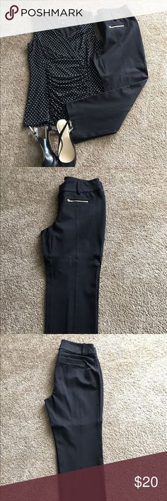 "INC Intl Concepts Black Crop Pants (sz 4) NWOT.  High rise; slim fit through hips and thighs straight leg black crops. Gold zipper pockets in front.  Two faux pockets at back. They are seamed down the front and the back. Never worn. Inseam approximately 24 1/4"". INC International Concepts Pants Ankle & Cropped"