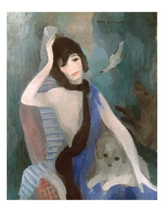 Gabrielle 'Coco' Chanel Giclee Print by Marie Laurencin at Art.com