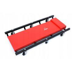 Dielenské servisné ležadlo čalúnené má široké použitie v autoservisoch a dielňach. Jeho mobilitu zabezpečuje 6 otočných koliesok. Komfort zlepšuje mäkká, nastaviteľná opierka hlavy. Montážne ležadlo je čalúnené s kovovou