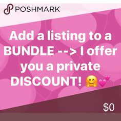 🙌🏼 BUNDLE & SAVE 💝 I'm also open to reasonable offers! 💕 Thanks friends 🤗 Other
