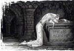 """Elven Grief"" by Candra - Thranduil grieves over Thorin Oakenshield's tomb. The Hobbit Movies, O Hobbit, Legolas Und Thranduil, Tauriel, Aragorn, Lotr, Concerning Hobbits, Fili And Kili, J. R. R. Tolkien"