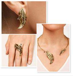 #outono #autumn #acessorios #colar #brincos #anel #necklace #vintage #oriflame #folhar #leaf