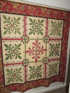 Dorothy's threads of life: It's been a while  Christmas Cactus quilt
