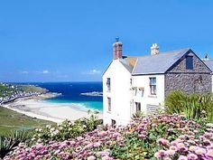 Carn Towan Cottages - Bishop Rock Sennen, Cornwall, England ~ Just imagine yourself there with someone you love deeply and there are no phones, no telly, just you. Cornwall England, Devon And Cornwall, Yorkshire England, Yorkshire Dales, Cornwall Coast, English Country Cottages, English Countryside, The Places Youll Go, Places To See