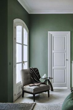 Wandfarben in Pastell- 22 hinreißende Einrichtungsbeispiele - New Site Sage Living Room, Living Room Colors, Paint Colors For Living Room, Green Rooms, Trendy Living Rooms, Living Room Grey, Popular Living Room, Sage Green Living Room, Sage Green Bedroom