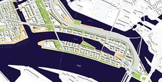 The illustration shows the east of the HafenCity after revision of the Masterplan