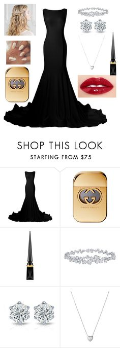 """""""Untitled #85"""" by brianaishungry ❤ liked on Polyvore featuring Gucci, Christian Louboutin, Harry Winston and Links of London"""