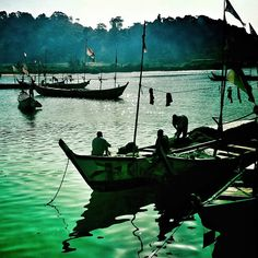 Fishing boats in the harbor in San Pedro, Ivory Coast. March 2012. Photo by…