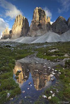 Three Sisters - Tre Cime del Lavaredo, Dolomiti, Italy (Drei Zinnen)