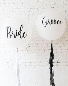 Bride & Groom Giant Balloon and Tassel Set — Paris312 Elegant Bridal Shower, Giant Balloons, Bride Groom, Tassels, Tassel, Soft Leather, Fringes