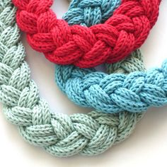 six knitted cords (like spool knitter I think) braided together