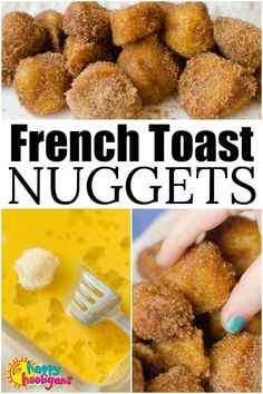 Kids Meals French Toast Nuggets are a fun and easy lunch idea that kids can make themselves. Dipped in egg, fried crispy brown and dusted with sugar and cinnamon, this finger-food version of French Toast is a lunch-time favourite for kids of all ages. French Toast, Picky Eaters Kids, Family Meal Ideas Picky Eaters, Family Meals, Good Food, Yummy Food, Yummy Lunch, Yummy Snacks, Food To Make