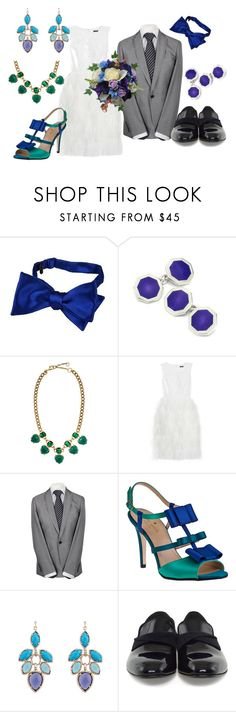 """""""Monsters University Wedding"""" by prettymindy ❤ liked on Polyvore featuring Forzieri, Aspinal of London, Gerard Yosca, J.Crew, Remus Uomo, Kate Spade, Kendra Scott and Paul Smith"""