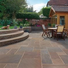 Raj Blend Classic Sandstone Premium Select Paving Slabs