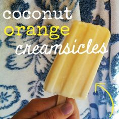 Beat the heat: healthy orange creamsicles made with coconut milk! #popsicles #creamsicles #recipe