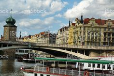Typical palaces along the Vltava, Prague royalty-free stock photo